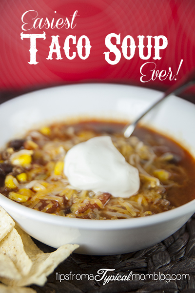 Quick and Easy One Pot Taco Soup Recipe