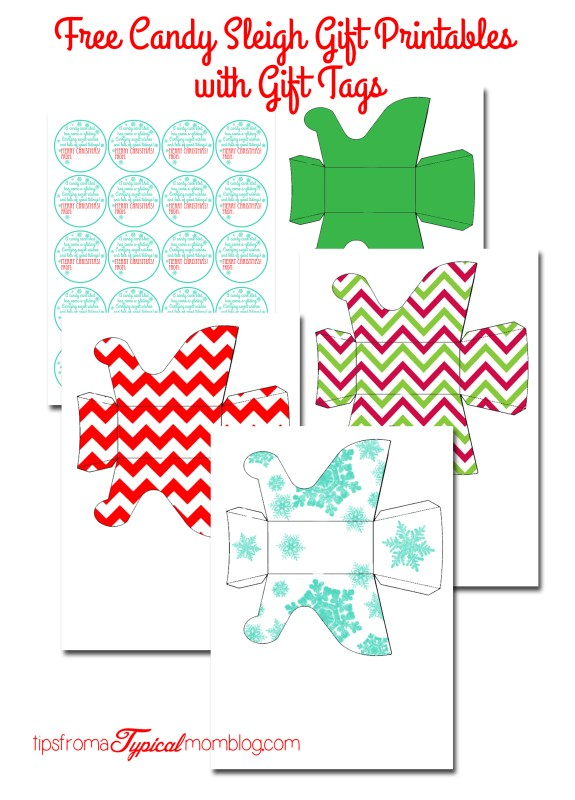 Free Candy Sleigh Gift Printables with Gift Tags