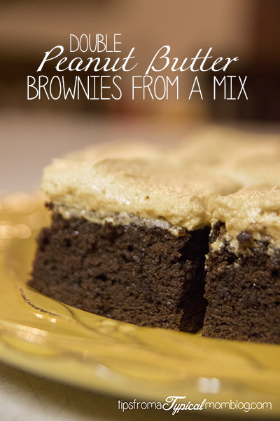 Double Peanut Butter Brownies from a Mix