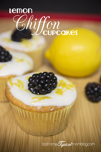 Cake Mix Lemon Chiffon Cupcakes with Lemon Glaze
