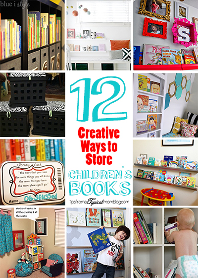 12 creative ways to store childrens books