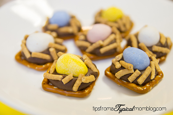 Cadbury Mini Eggs Pretzel Nests