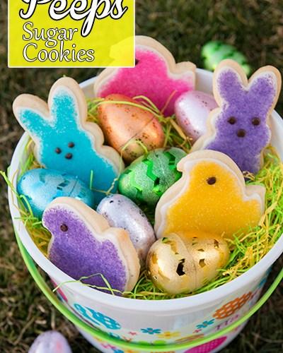 Easter Peeps Sugar Cookies with Wilton