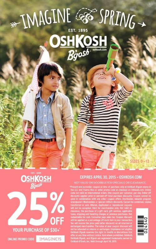 Spring Osh Kosh B'Gosh coupon