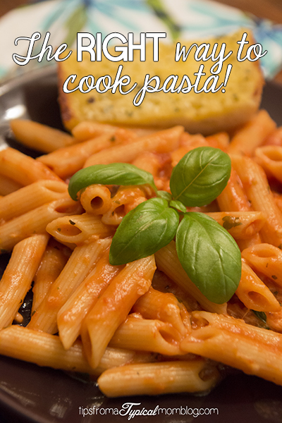 The RIGHT Way to Cook Pasta. Have you been doing it wrong all along?