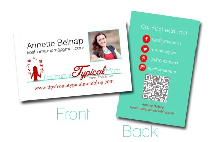 Tips From a Typcial Mom Blog Business Cards