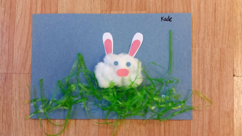 Easter bunny craft for kidsEaster bunny craft for kids