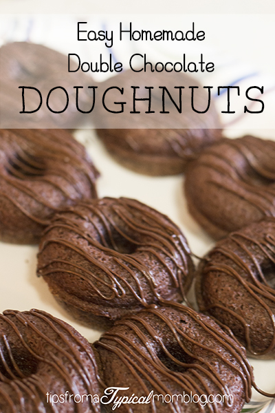 Easy Double Chocolate Doughnuts + Giveaway!