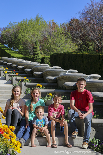 Family at Thanksgiving Point Tulip Festival