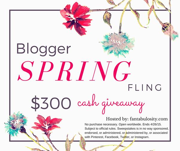 Blogger Spring Fling $300 Cash Giveaway
