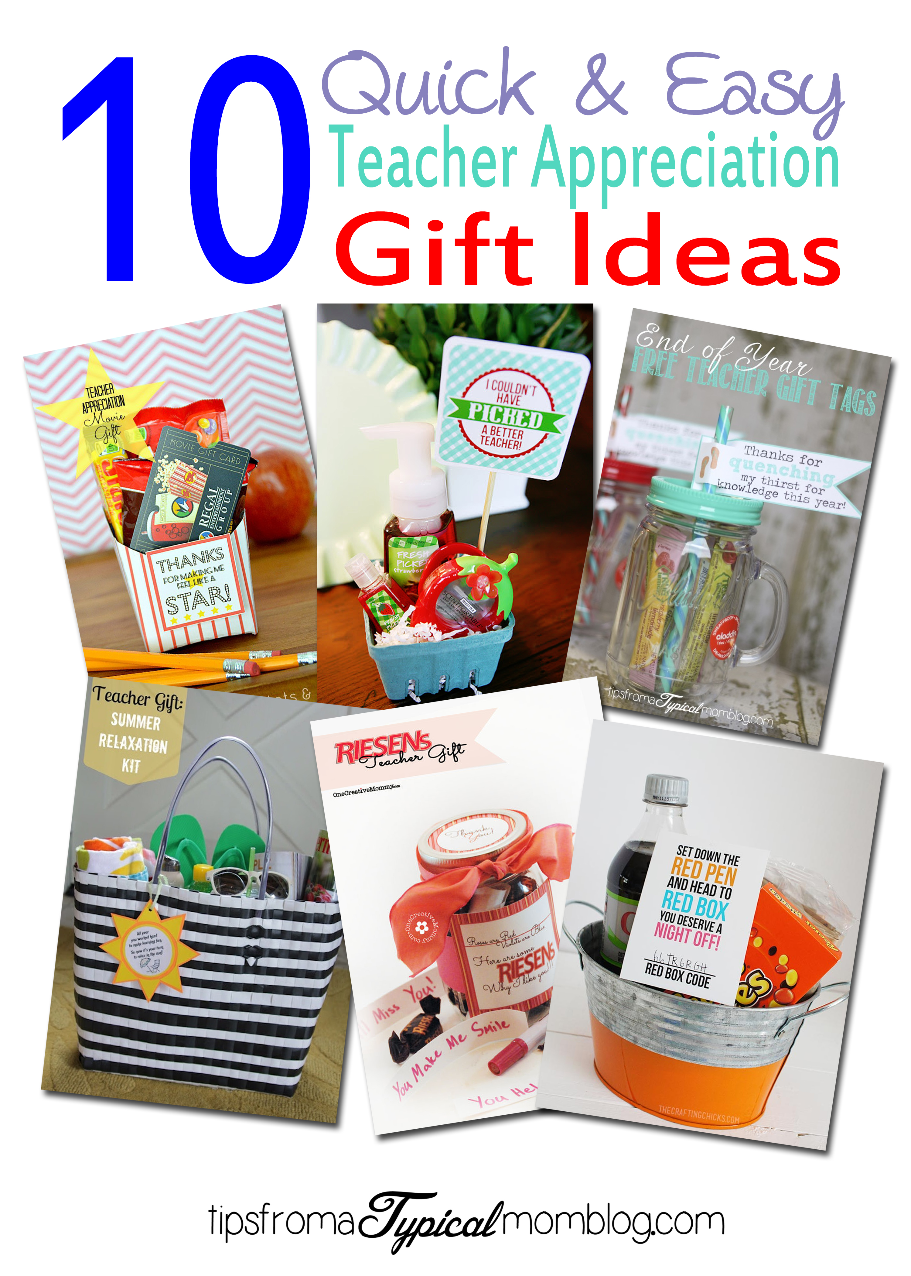 photo about Redbox Teacher Appreciation Printable named 10 Uncomplicated and Uncomplicated Trainer Appreciation Reward Guidelines
