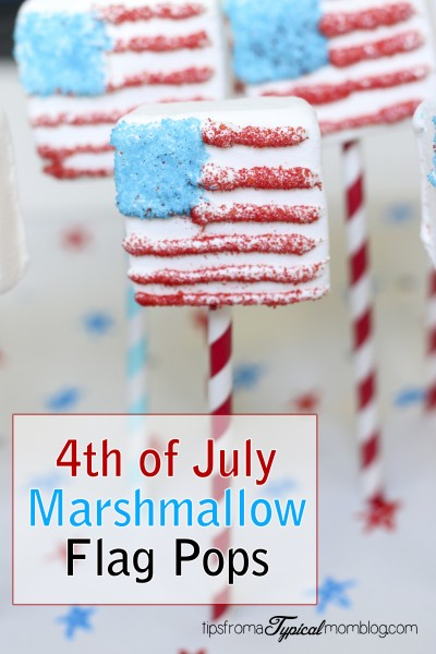 4th of July Marshmallow Flag Pops