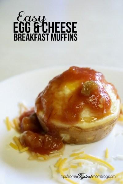 Egg & Cheese Breakfast Muffins- An Easy Summer Breakfast