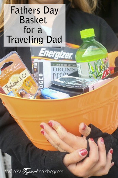 A Fathers Day Gift Basket idea for a Traveling Dad