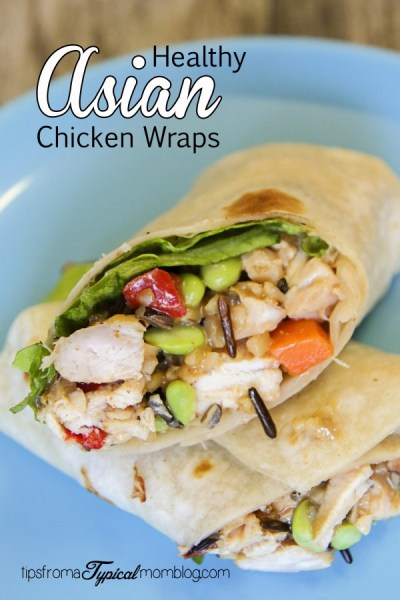 Healthy Asian Chicken Wraps- Packed with Protein