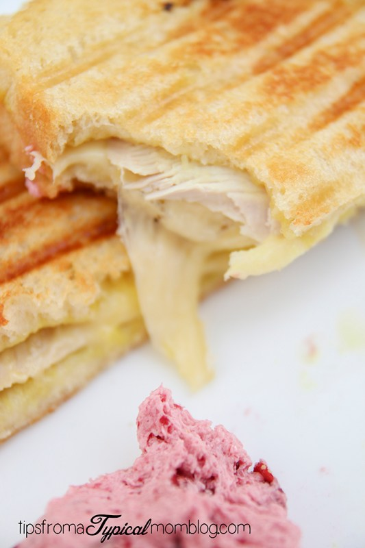 Turkey Swiss and Honey Mustard Panini with Cranberry Butter