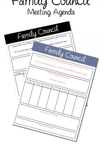 Why Your Family Should Be Holding Family Councils // Free Printable