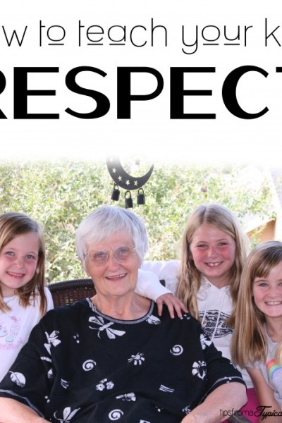 How to Teach Your Kids Respect