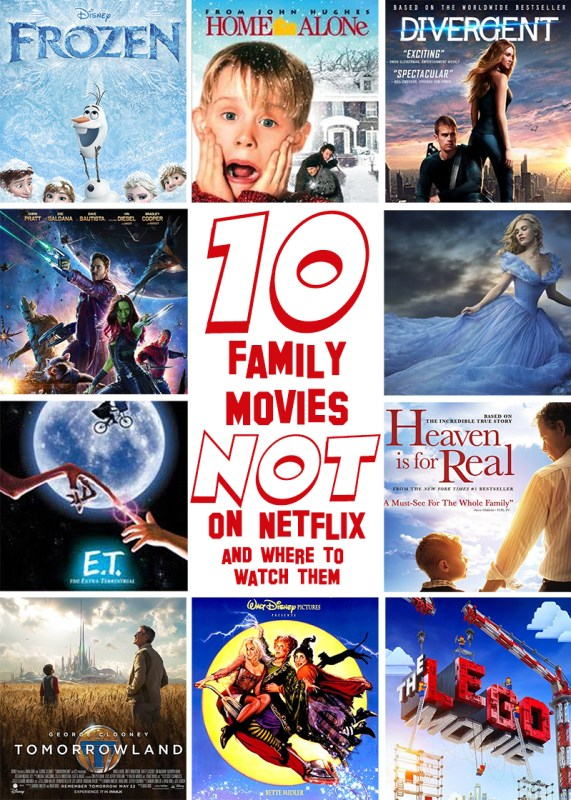 10 Family Friendly Movies NOT on Netflix and Where to Watch Them