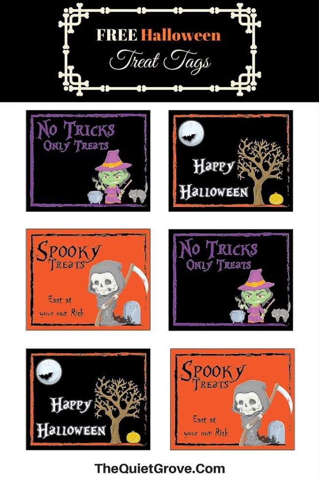 FREE Halloween Treat Tag Printable
