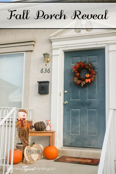 Fall Porch Reveal~ Ideas on what to use to decorate your porch this Fall