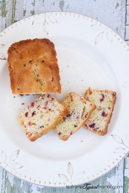 Cranberry Orange and White Chocolate Bread