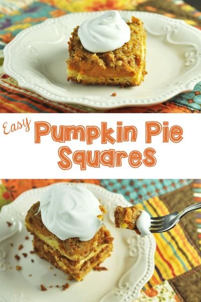 Easy Pumpkin Pie Squares~ Oktoberfest!