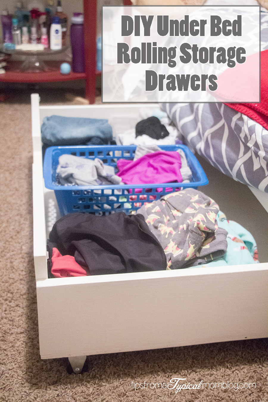 DIY Under Bed Rolling Storage Drawers Tutorial & DIY Under Bed Rolling Storage Drawers Tutorial - Tips from a Typical Mom