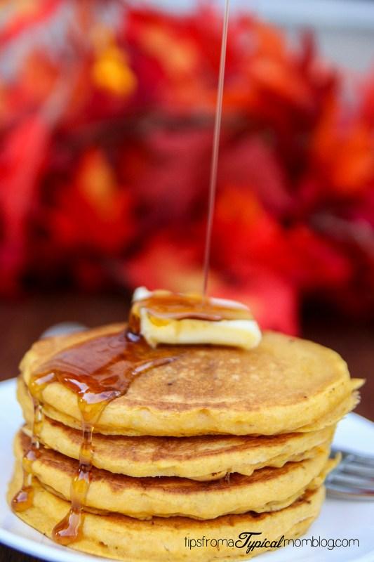 Pumpkin Toffee Pancakes Recipe