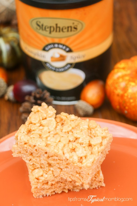 Pumpkin Spice Rice Krispy Treats