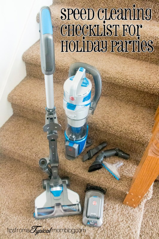 Speed Cleaning Checklist for Holiday Party