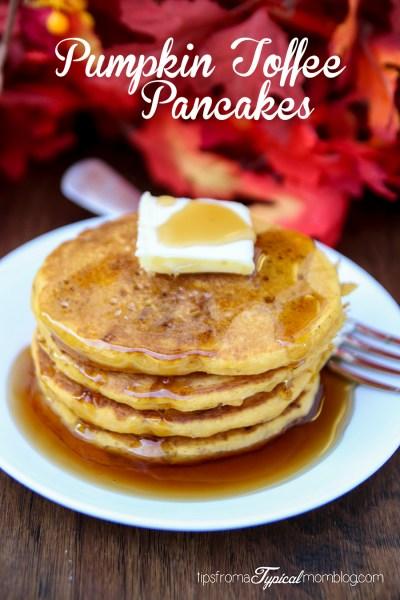 Easy Pumpkin Toffee Pancakes Recipe