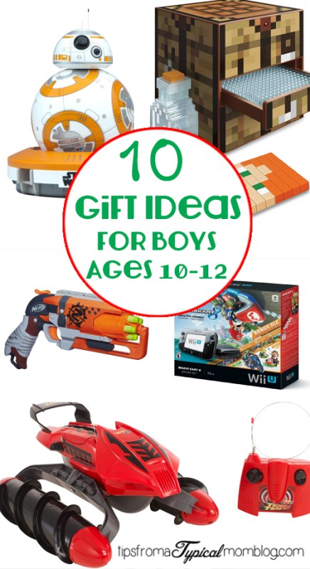 10 Gifts for Boys ages 10-12 - Tips from a Typical Mom