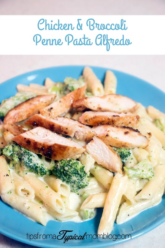 Chicken Amp Broccoli Penne Pasta With Homemade Alfredo Sauce Tips From A Typical Mom