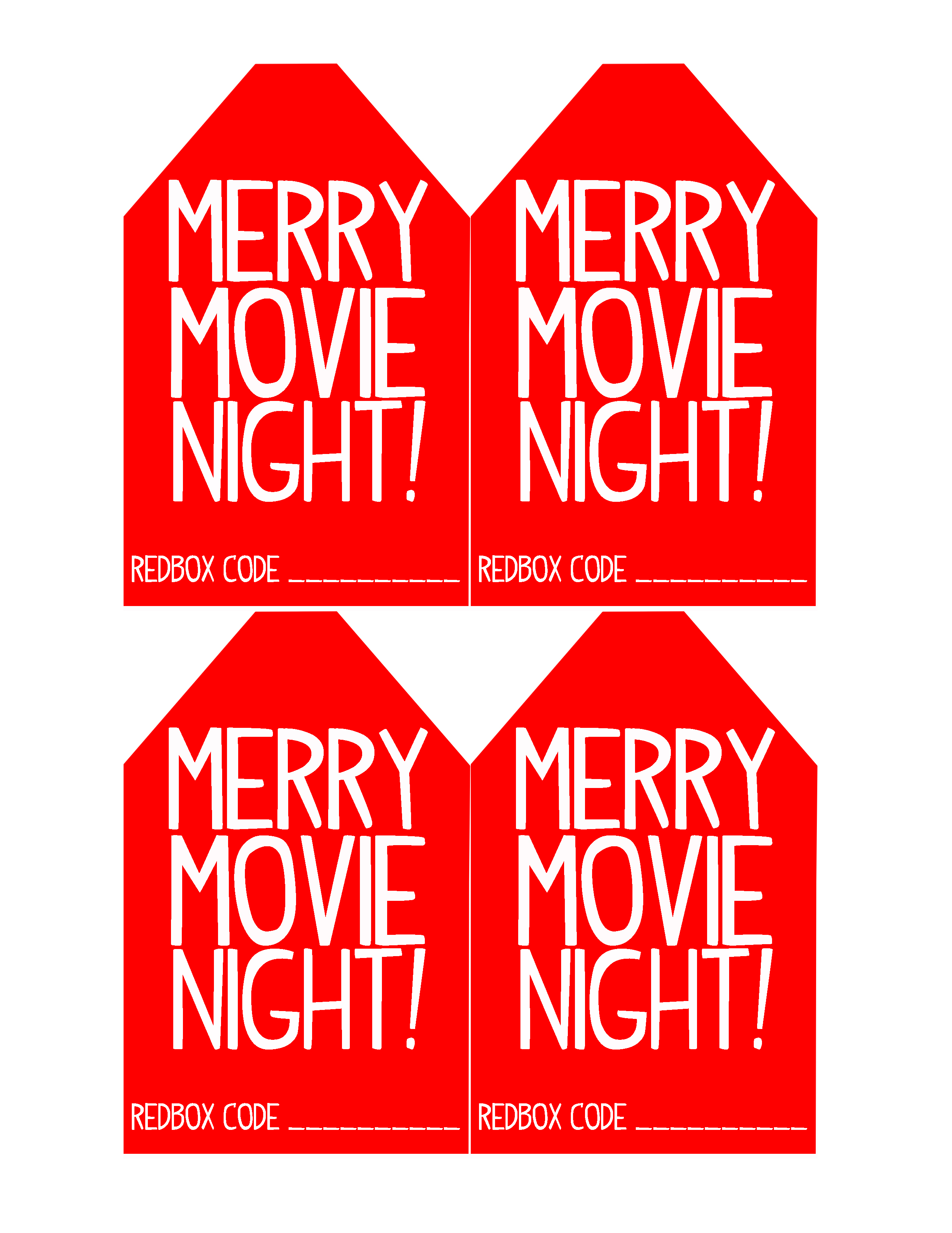 photo about Redbox Printable Tags known as 8 Straightforward and Simple Trainer Xmas Present Programs with Printable