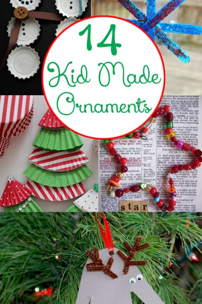 14 Kid Made Christmas Ornaments