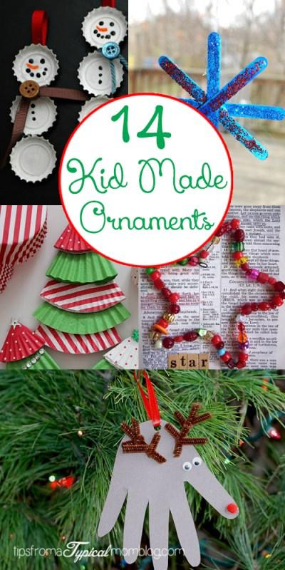 14 Kid Made Ornaments