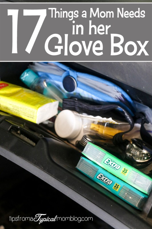 17 Things That I Would Tell My Future 17 Year Old Daughter: 17 Things A Mom Needs In Her Glove Box, Besides Gloves