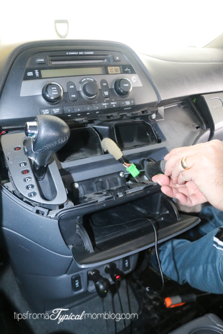 how to install an aux input cable in your honda odyssey so 2007 Honda Odyssey Aux Wiring bluetooth and iphone ipod aux kits for