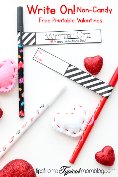 Write On! Non- Candy Printable Valentines for Kids and Teens