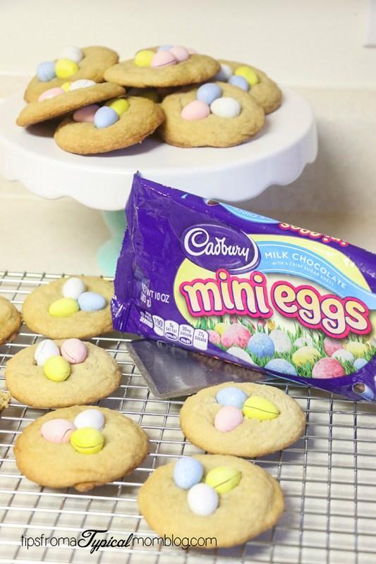 Cabury Mini Eggs Cookies Recipe for Easter
