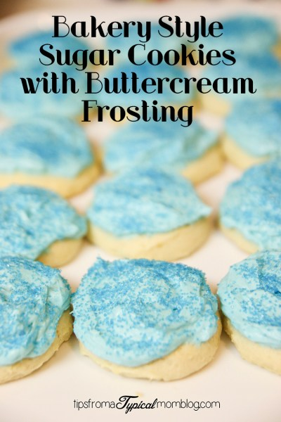 The Best Bakery Style Sugar Cookies with Buttercream Frosting