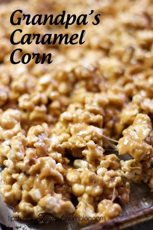 Grandpa's Caramel Corn Recipe