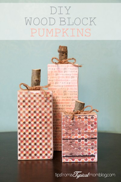 DIY Wood Clock Pumpkins