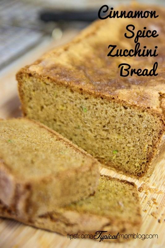 Cinnamon Spice Zucchini Bread