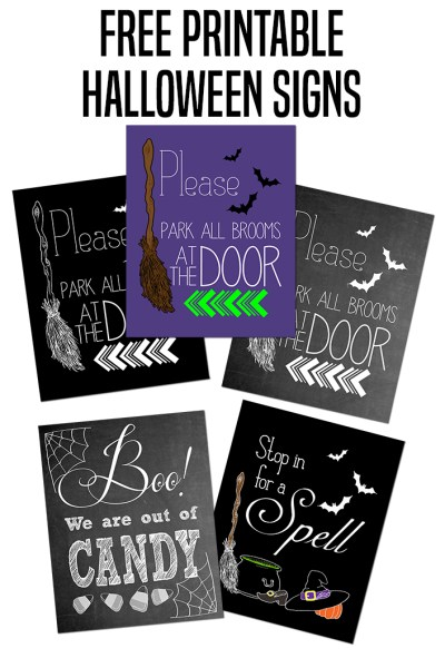 Please Park All Brooms at the Door Halloween Printable