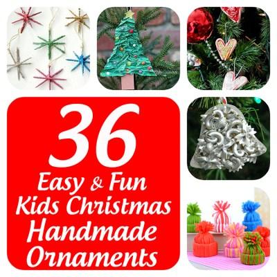 36 Easy and Fun Kids Christmas Handmade Ornaments