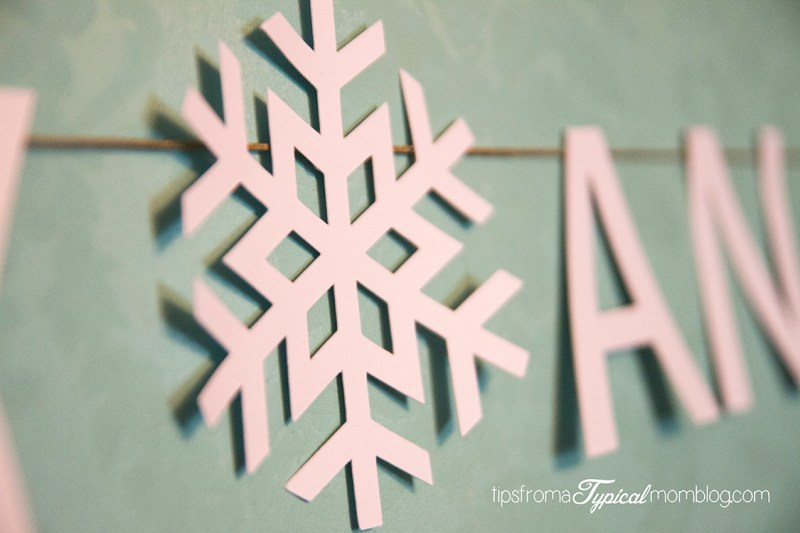 Merry and Bright Banner Christmas Card Display Idea