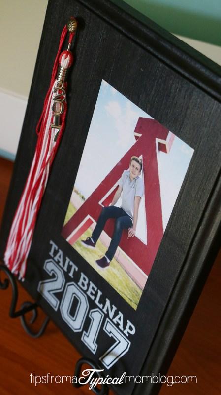 DIY Graduation Tassel & Senior Picture Display Plaque