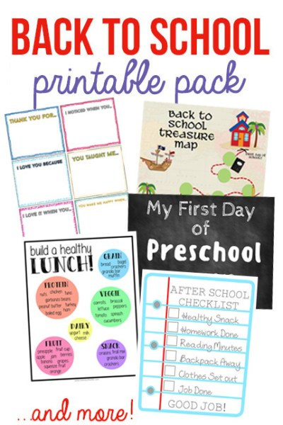 Back to School Printable Pack for Moms